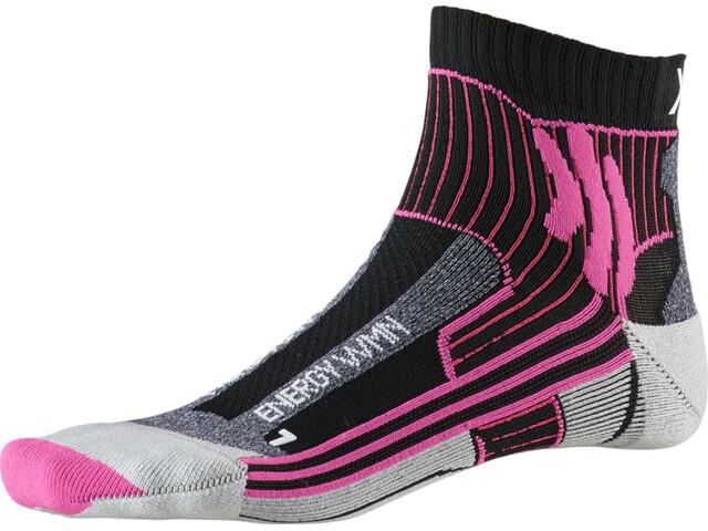 X-Socks Marathon Energy Socks Damen black/flamingo pink